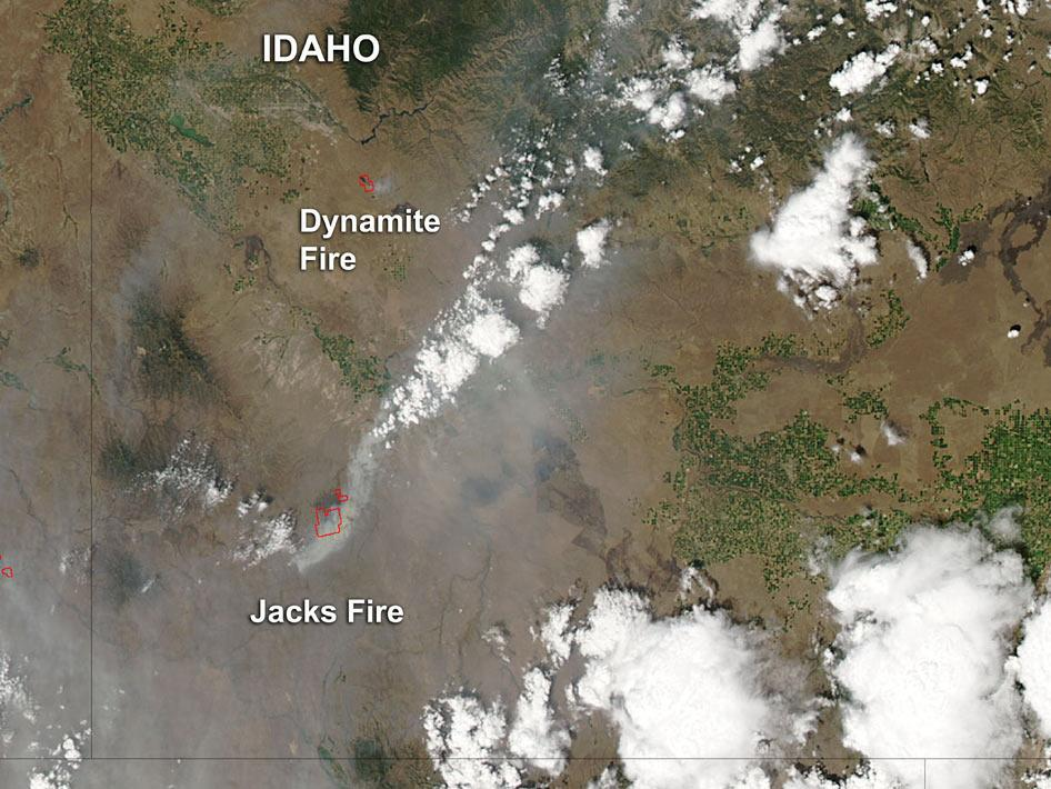 Jacks and Dynamite fires in southwestern Idaho