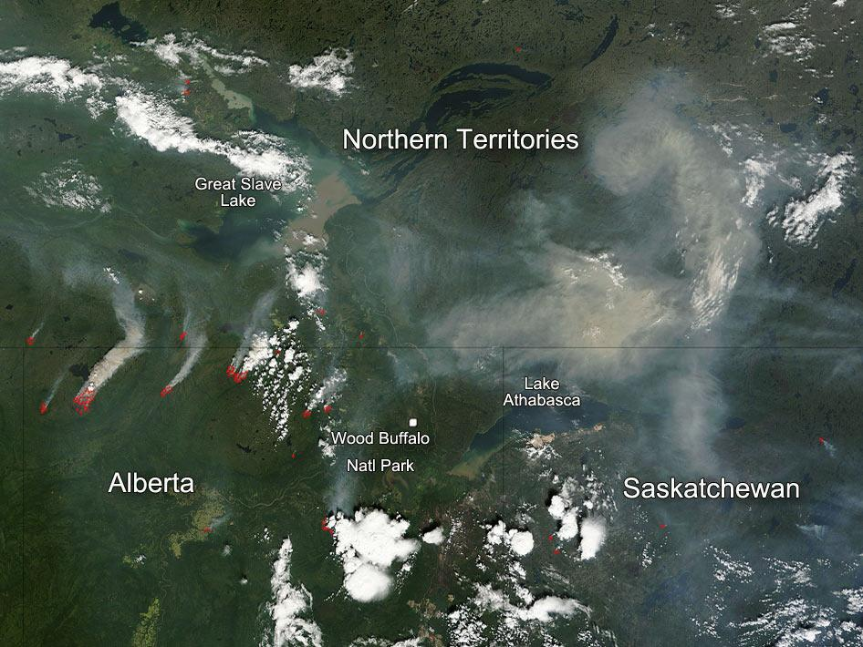 Fires still burn in Alberta, Canada