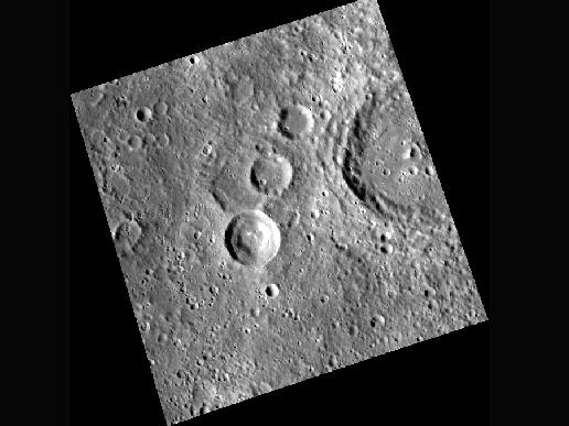 Image from Orbit of Mercury: The Bubble Crater