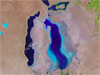 Landsat image of the Aral Sea from 2010