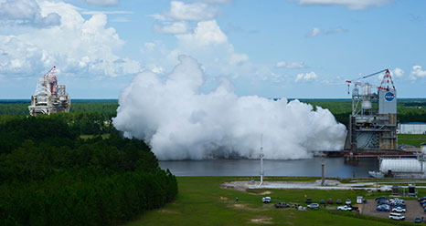 July 13, 2012 J-2X engine test at Stennis Space Center