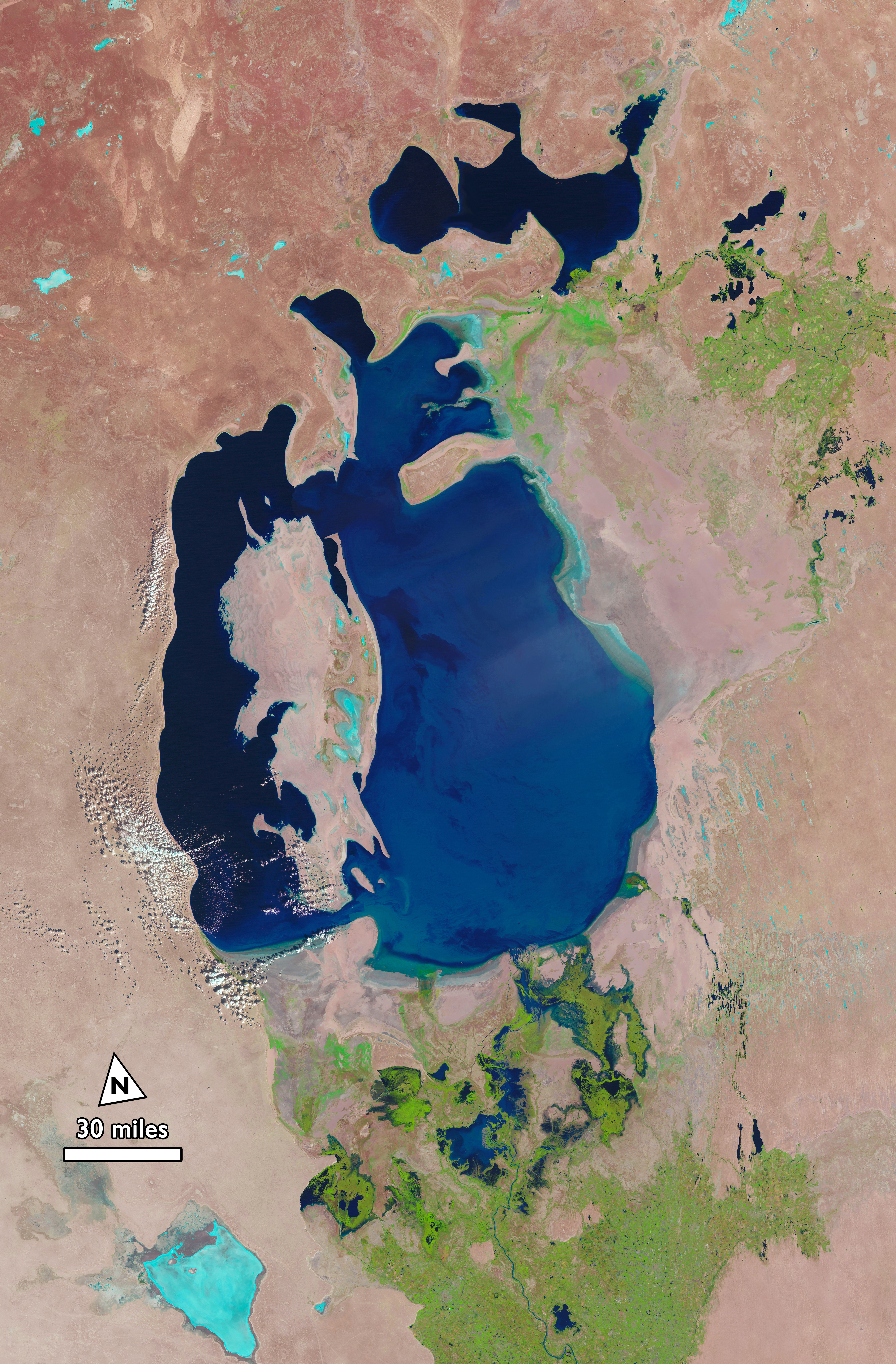 the aral sea The aral sea was once the fourth largest body of inland water in the world but, as the map dramatically illustrates, it has now shrunk to a mere shadow of its former.