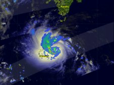 NASA's TRMM satellite captured rainfall data on Tropical Storm Khanun on July 17, 2012.