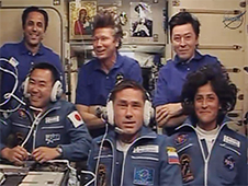 The six-member Expedition 32 crew