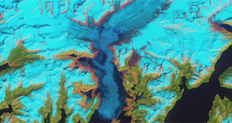 Landsat image of Columbia Glacier in 2011
