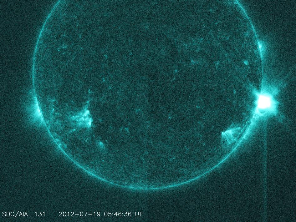 Image captured by SDO on July 19, 2012 of M7.7 class solar flare.