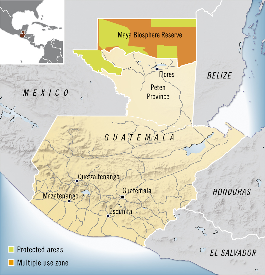 NASA Landsat Top Ten International Borders Mexico And Guatemala - Political map of guatemala