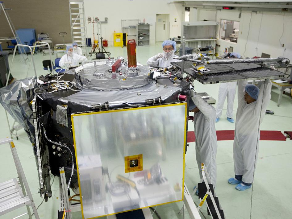 Solar array attached to RBSP spacecraft.
