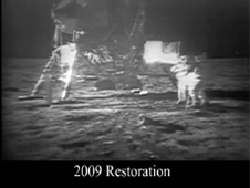 Apollo 11 restored moonwalk videos