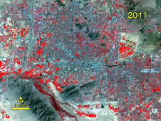 Landsat image of Phoenix in 2011