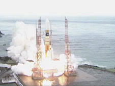 H-IIB rocket launches from the Tanegashima Space Center