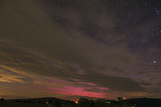 In Arkansas there was an outburst of red and purple aurora, plainly visible to the naked eye.
