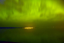 In Ashland, Wisconsin, the temperature was 78 degrees F and Northern Lights danced overhead.