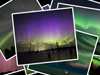 Multiple scattered photos of aurora.
