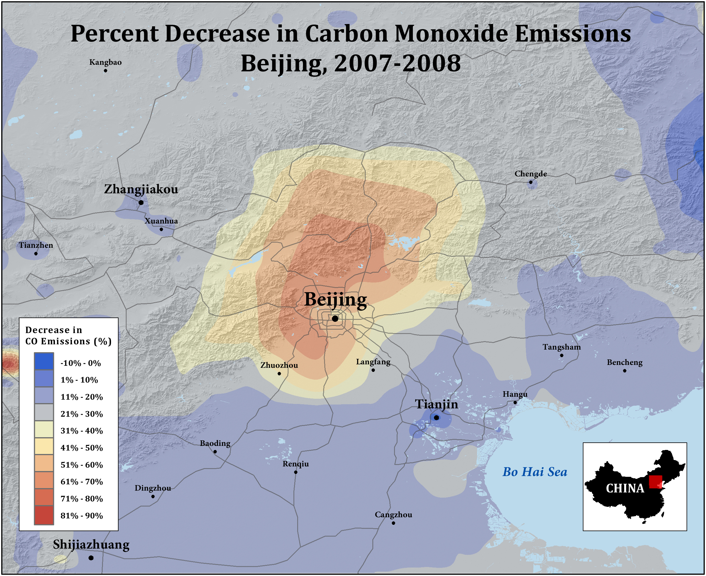 NASA   China Olympics Traffic Measures Cut Carbon Emissions