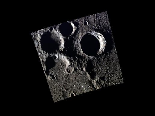 Image from Orbit of Mercury: Craters Young and Old