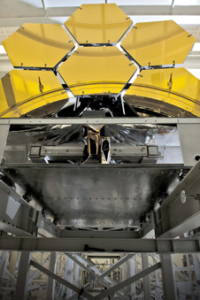 photograph of Webb space telescope mirrors