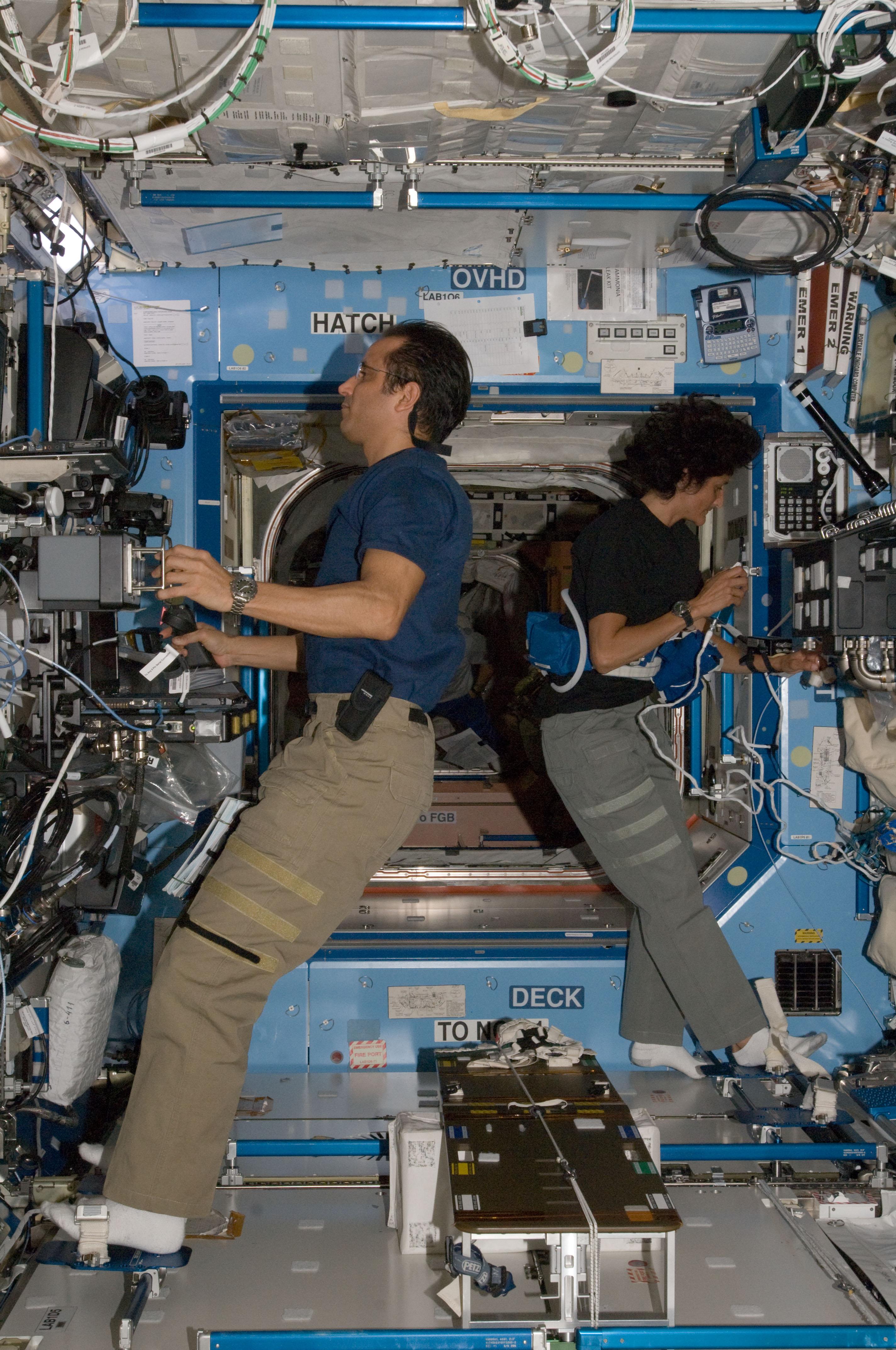 NASA - Joe Acaba and Sunita Williams