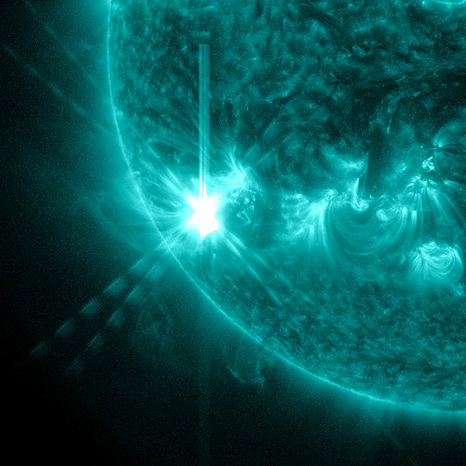 SDO captured this image of the M6.2 class solar flare on July 28, 2012.