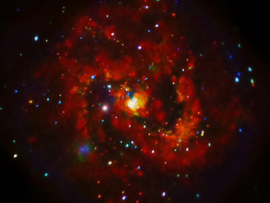 Supernova en M83, una galaxia espiral