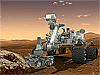 Artist concept of the Curiosity rover on Mars