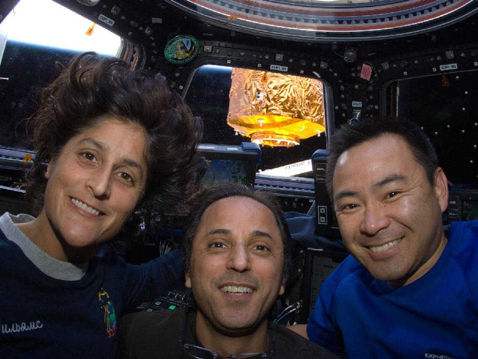 Sunita Williams, Joe Acaba and Aki Hoshide