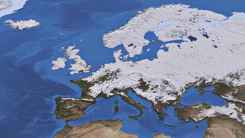 Visualisation of the snow over europe in 2010