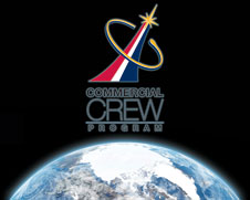 Commercial Crew Program logo and low Earth orbit