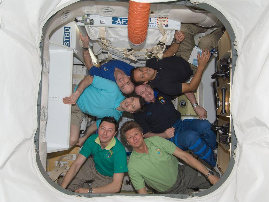 Expedition 31 inside SpaceX Dragon