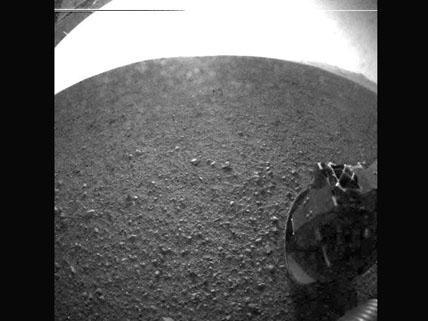 erstes Bild von Curiosity vom Mars