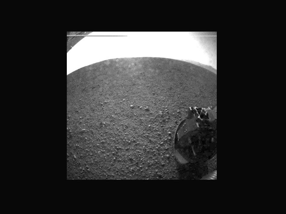 One of the first images taken by NASA's Curiosity rover, which landed on Mars the morning of August 6, 2012. NASA/JPL-Caltech