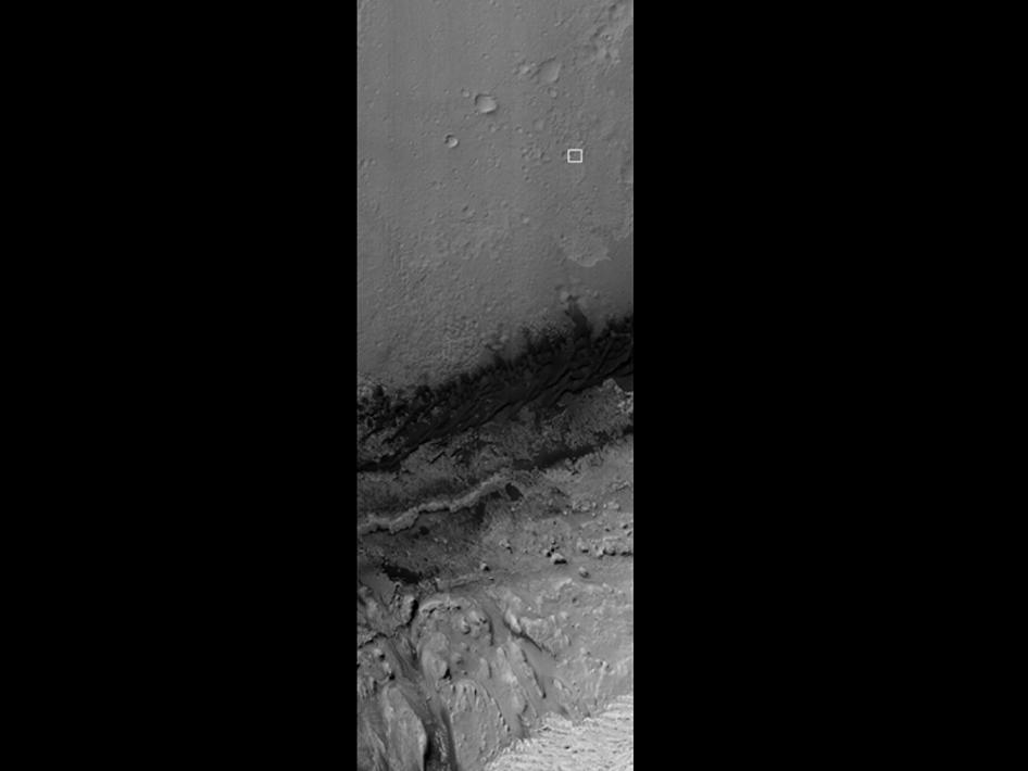 Curiosity Flying Over Mars