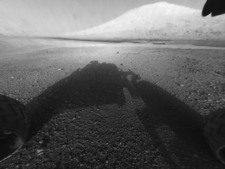 View of Mount Sharp from NASA's Mars rover Curiosity
