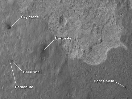 Scene of a Martian Landing