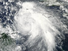 Tropical Storm Ernesto was captured by MODIS on August 6, 2012 at 1840 UTC (2:40 p.m. EDT).