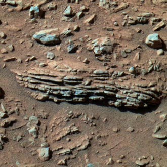 Spirit recently finished examining this rock