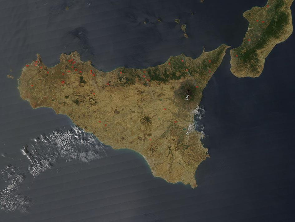 Fires in Sicily