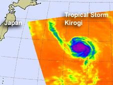 AIRS image of Tropical Storm Kirogi
