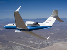 NASA's C-20A (Gulfstream III) uses a sophisticated synthetic aperture radar carried in an underbelly pod on a wide range of Earth science missions.