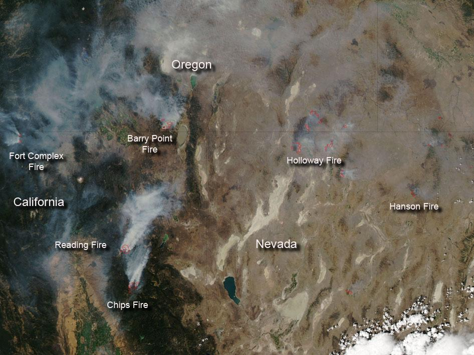 Fires in the Western US