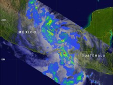The TRMM satellite passed above Ernesto on Thursday August 9, 2012 at 1506 UTC (11:06 AM EDT).
