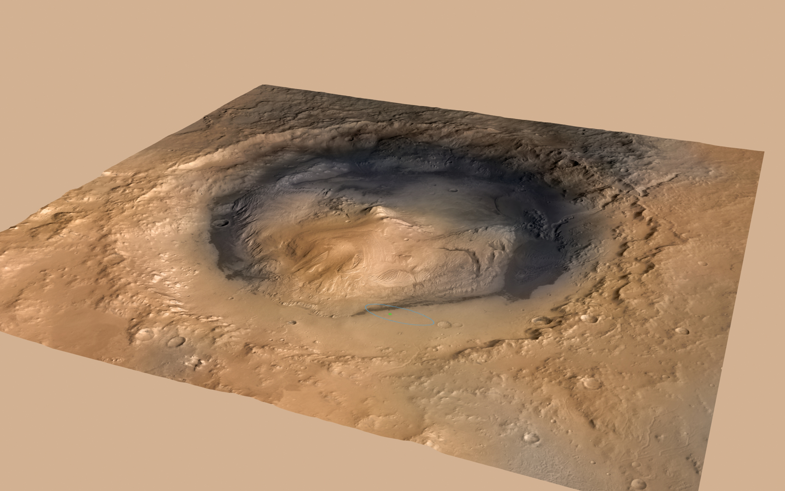 Amazing view across Mars' Gale Crater | Science Wire ...