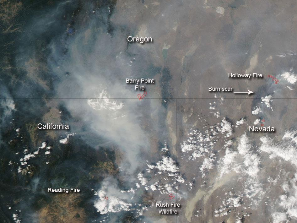 Fires in northwestern U.S.
