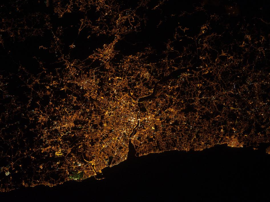 Nighttime Image of Portugal