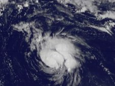 The GOES-13 satellite captured this visible image of newborn Tropical Storm Gordon on August 16 at 1145 UTC (7:45 a.m. EDT).
