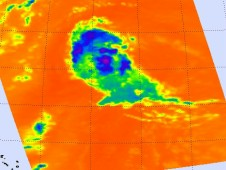 On August 15, AIRS captured this infrared image of System 93L before it became Tropical Storm Gordon.