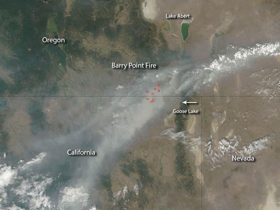 Barry Point Fire, OR