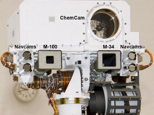 Head of mast on Mars rover Curiosity