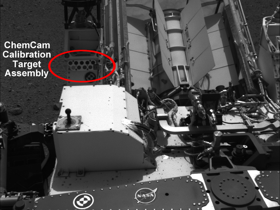 The calibration target for ChemCam on the Mars Science Laboratory