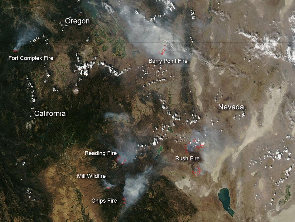 Fires in Northern California